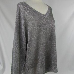 INC Int'l Concept Size 3X Sweater Silver Metallic